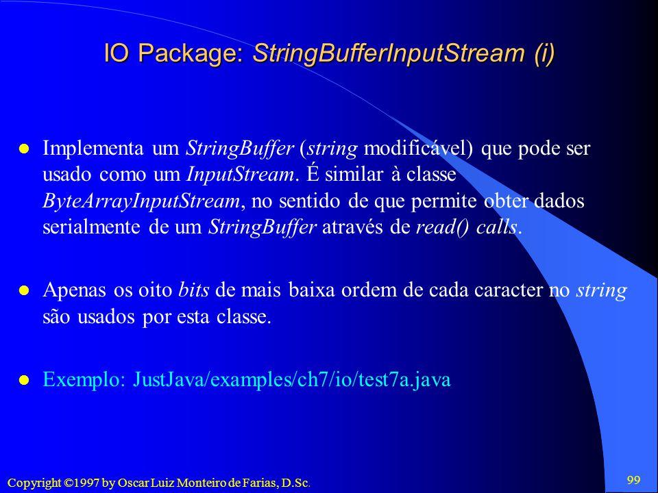 IO Package: StringBufferInputStream (i)