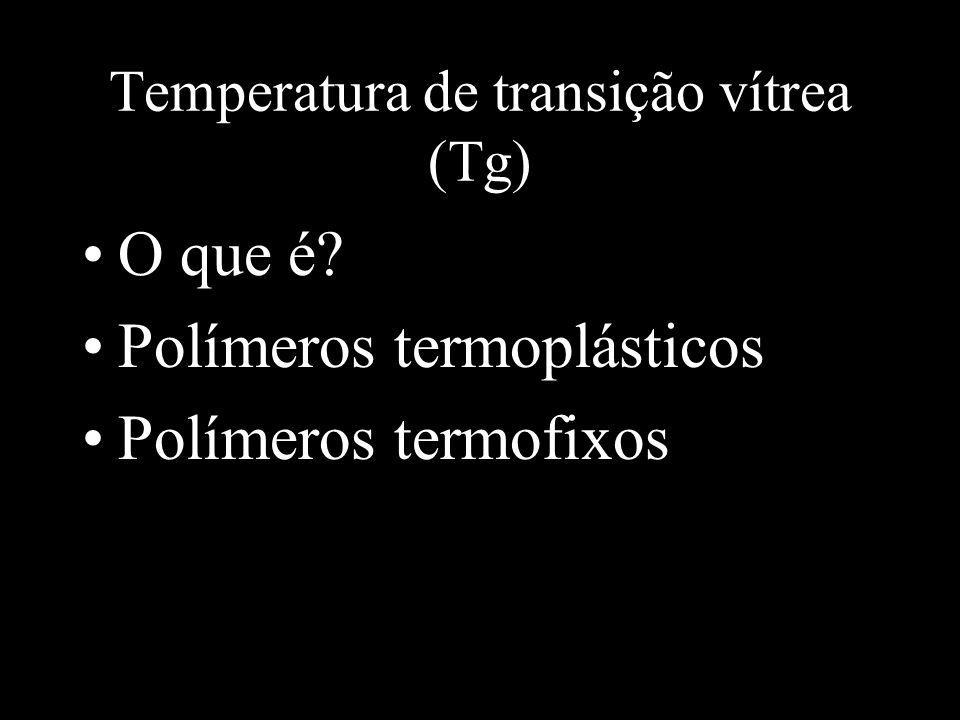 Temperatura de transição vítrea (Tg)