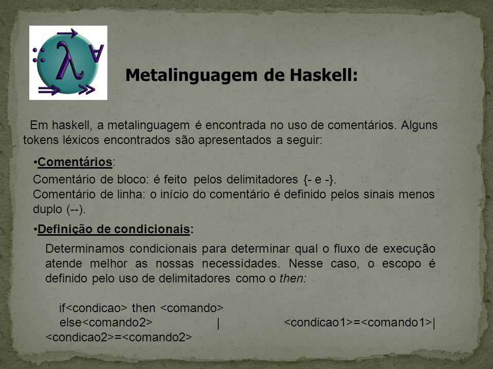 Metalinguagem de Haskell: