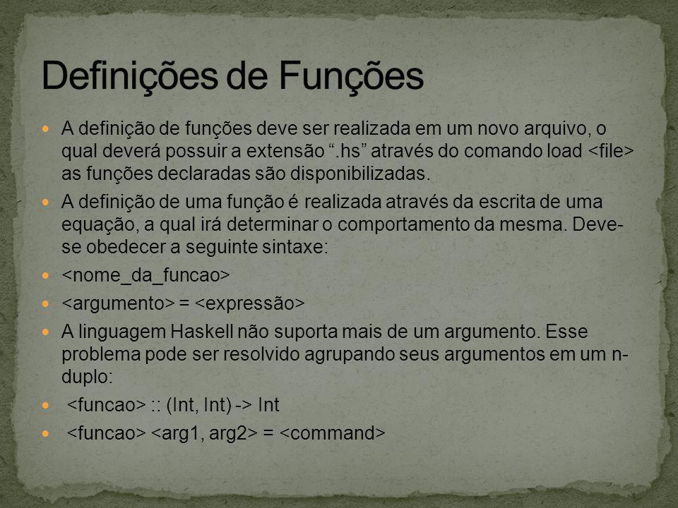 Definições de Funções