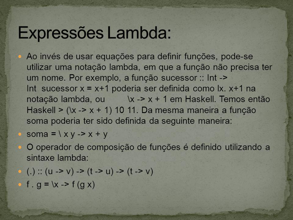 Expressões Lambda: