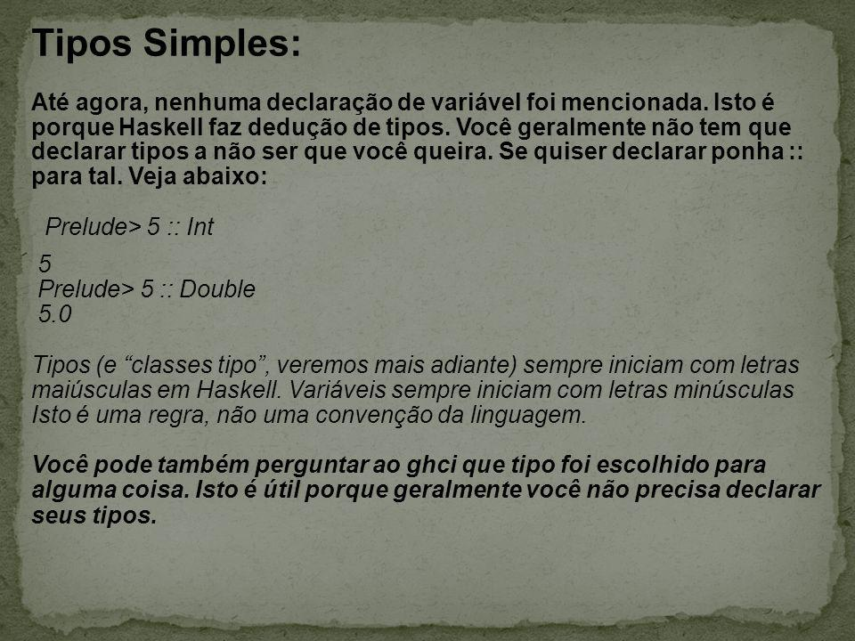 Tipos Simples:
