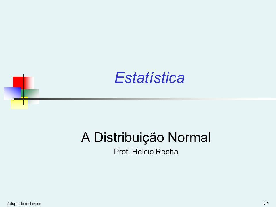 A Distribuição Normal Prof. Helcio Rocha