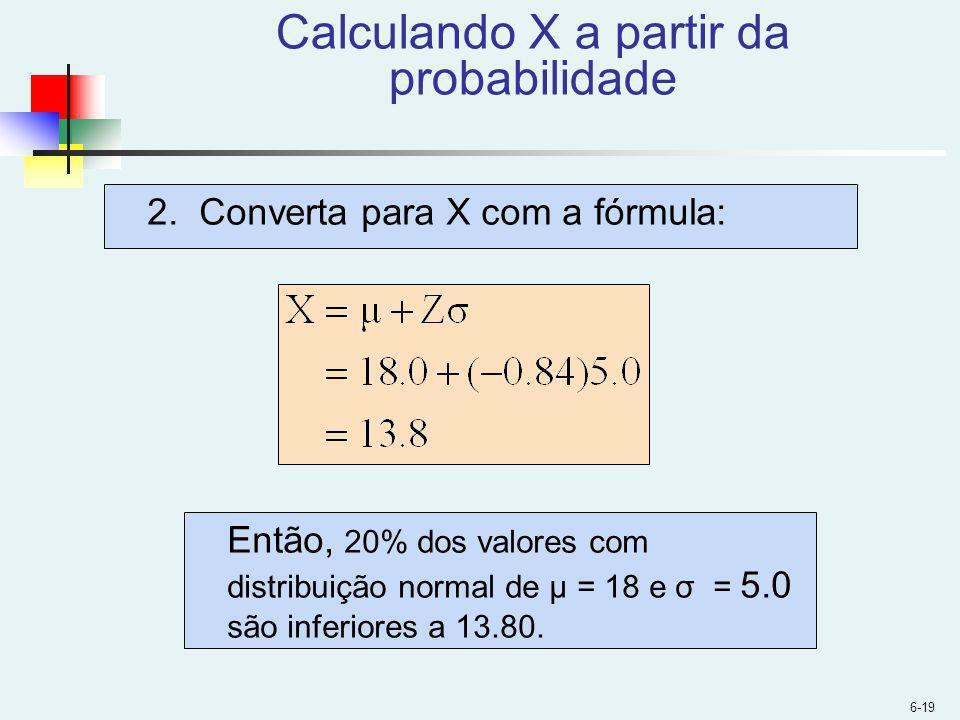 Calculando X a partir da probabilidade