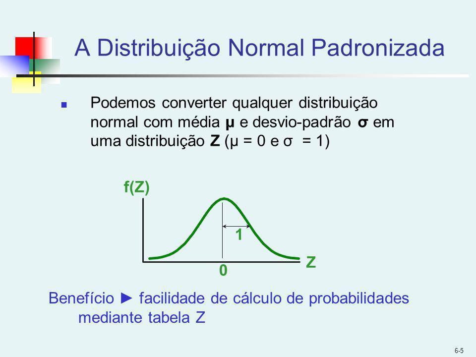 A Distribuição Normal Padronizada