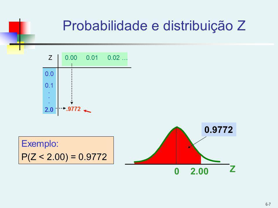 Probabilidade e distribuição Z