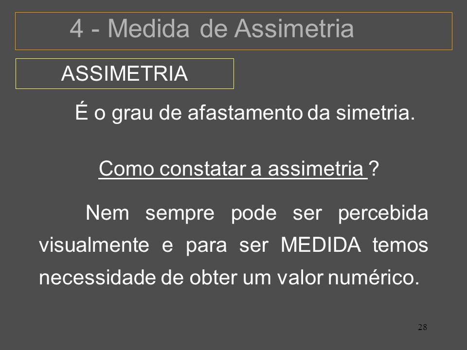 Como constatar a assimetria
