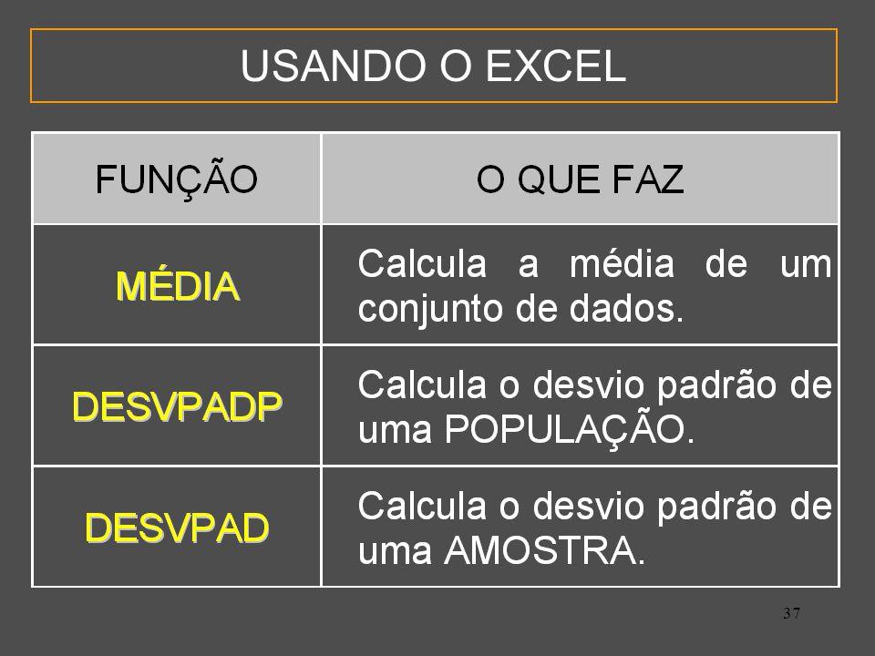 USANDO O EXCEL