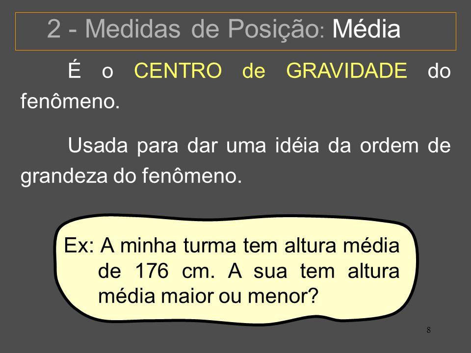 2 - Medidas de Posição: Média