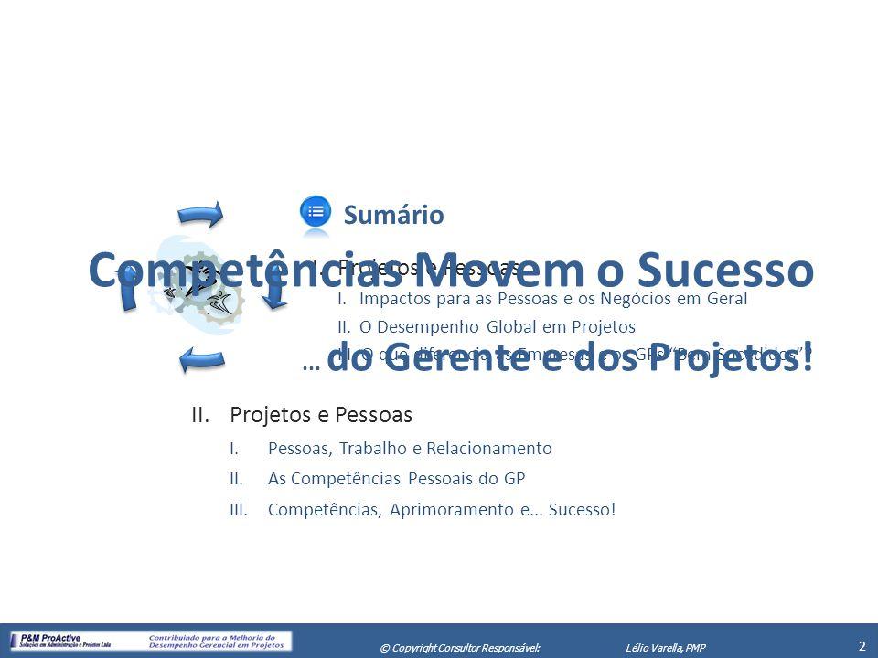 Competências Movem o Sucesso ... do Gerente e dos Projetos!