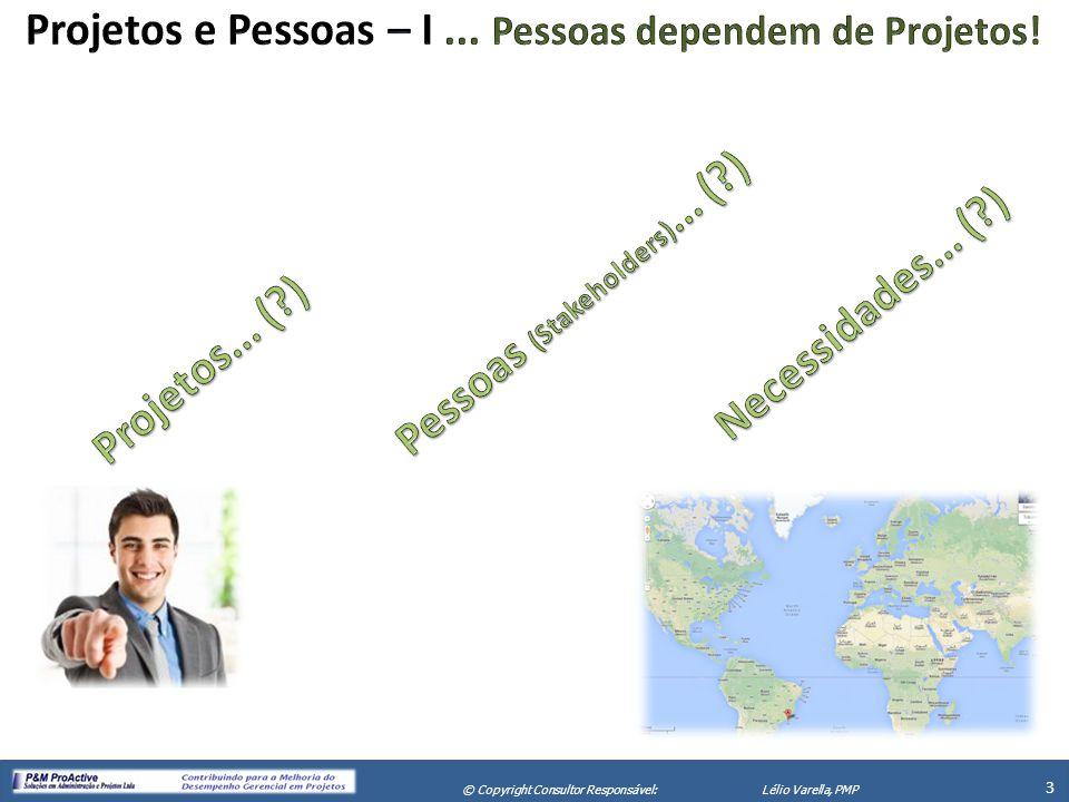 Projetos e Pessoas – I ... Pessoas dependem de Projetos!