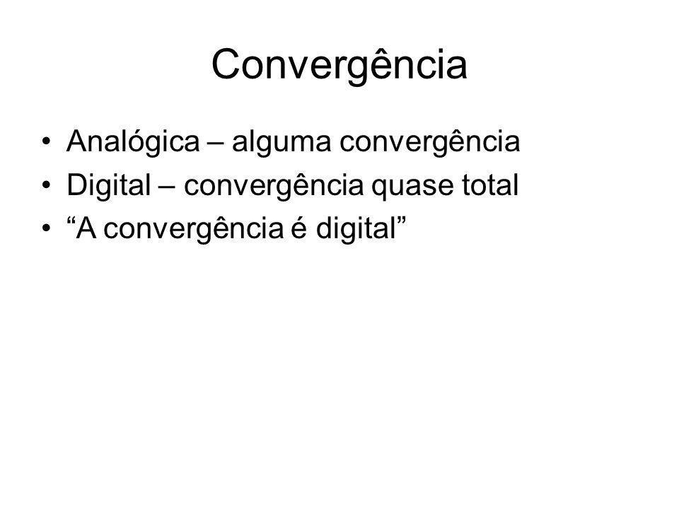 Convergência Analógica – alguma convergência