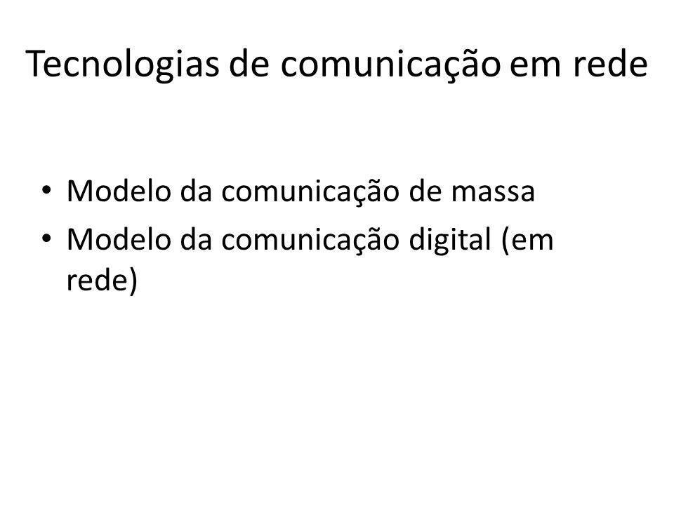 Tecnologias de comunicação em rede