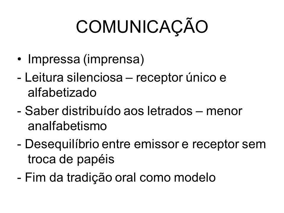 COMUNICAÇÃO Impressa (imprensa)