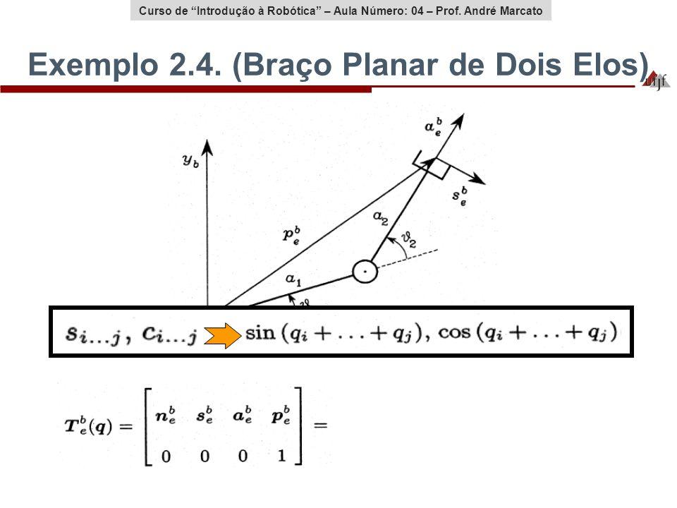 Exemplo 2.4. (Braço Planar de Dois Elos)