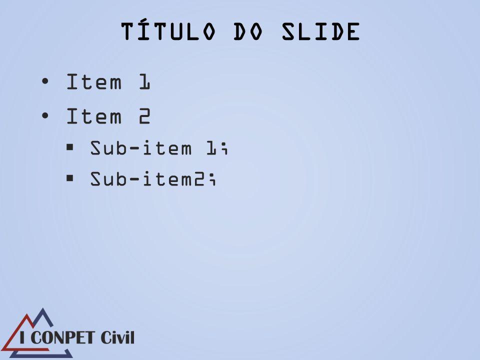 Item 1 Item 2 Sub-item 1; Sub-item2;