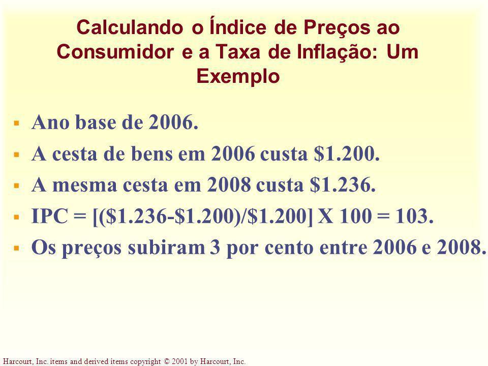 A cesta de bens em 2006 custa $1.200.