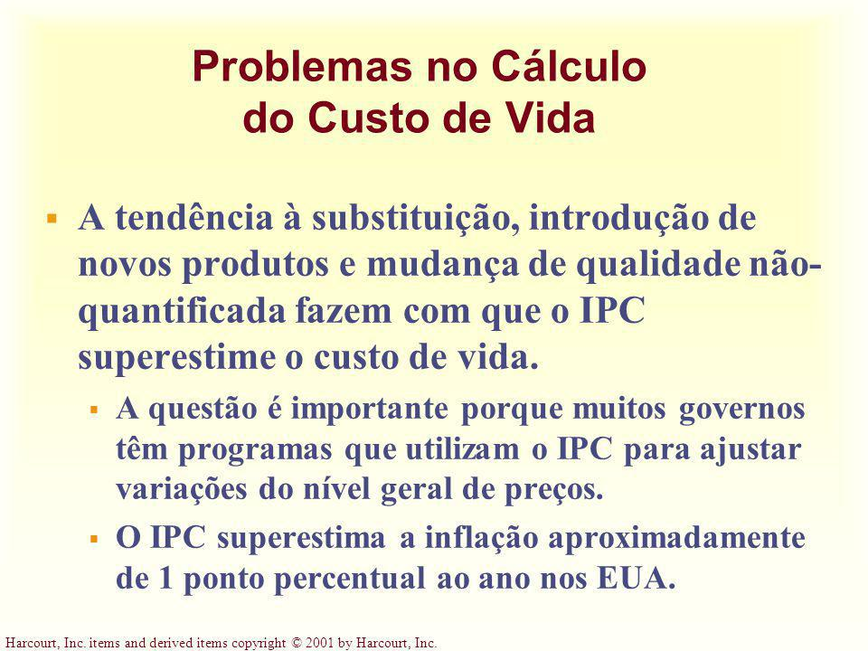 Problemas no Cálculo do Custo de Vida