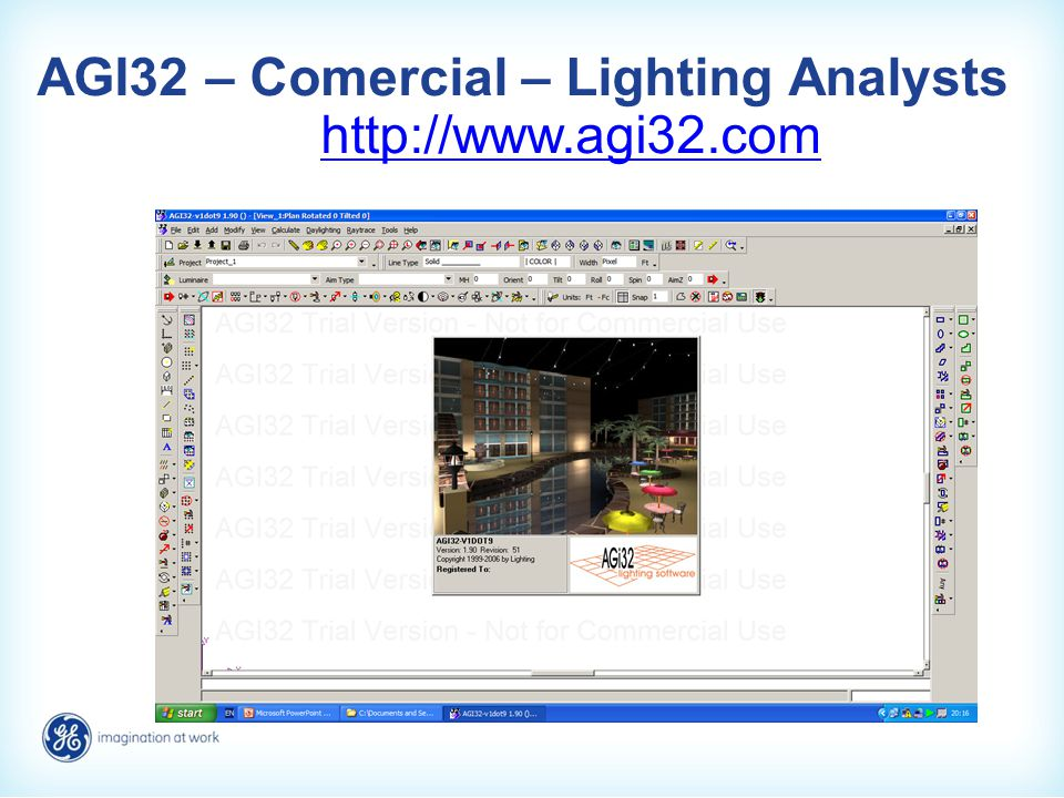 AGI32 – Comercial – Lighting Analysts http://www.agi32.com