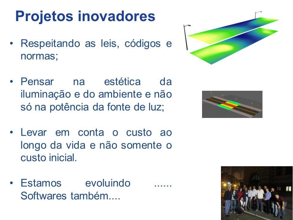 Projetos inovadores Respeitando as leis, códigos e normas;
