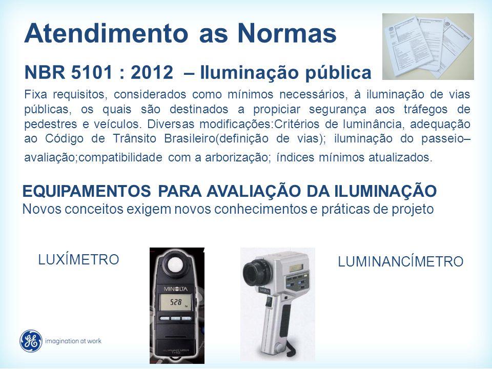 Atendimento as Normas NBR 5101 : 2012 – Iluminação pública