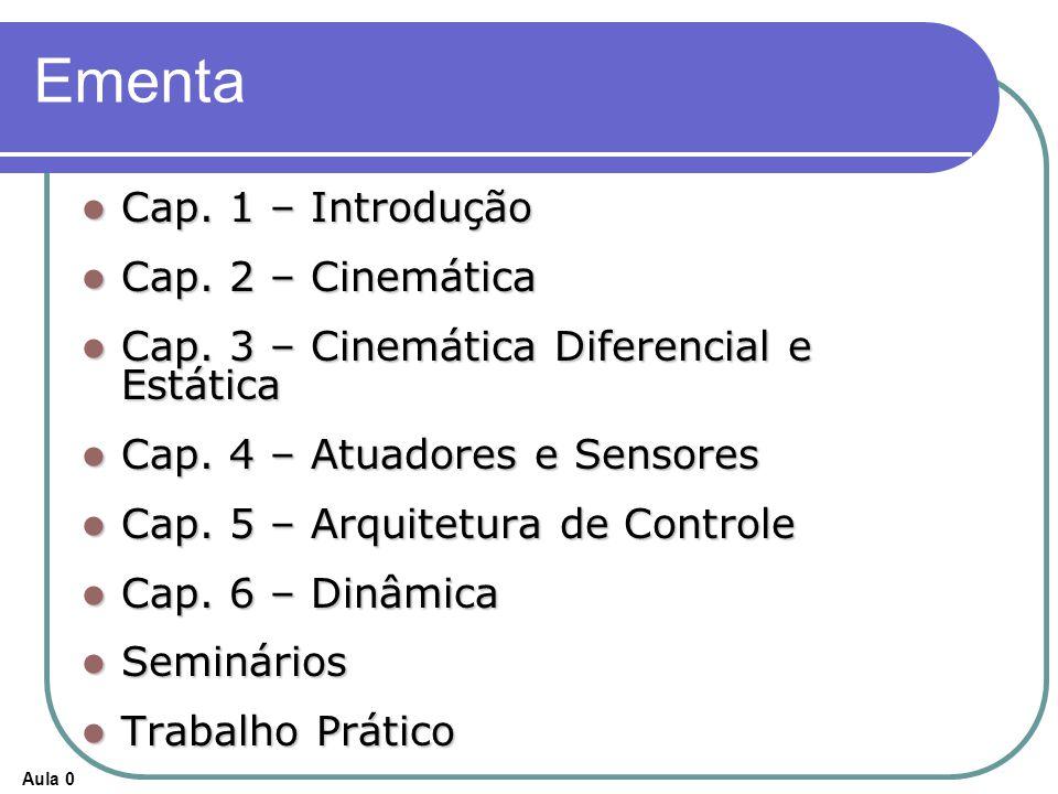 Ementa Cap. 1 – Introdução Cap. 2 – Cinemática