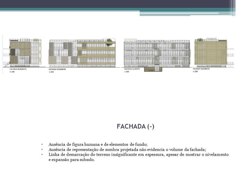 4 FACHADA (-) Ausência de figura humana e de elementos de fundo;