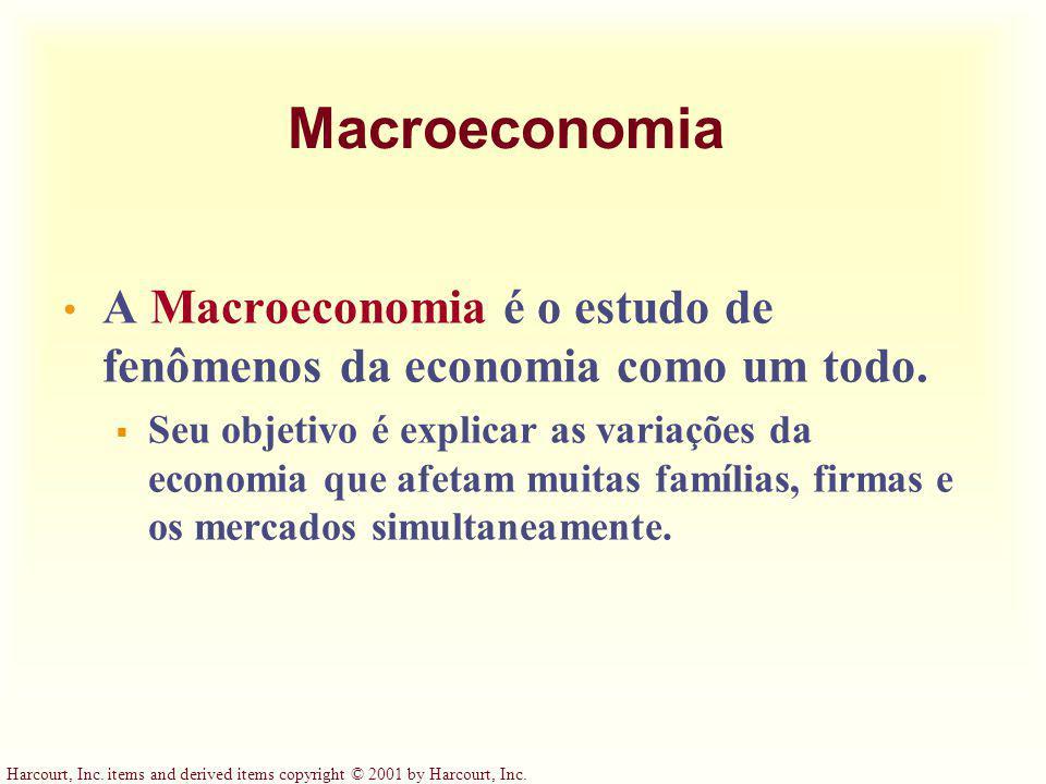 Macroeconomia A Macroeconomia é o estudo de fenômenos da economia como um todo.