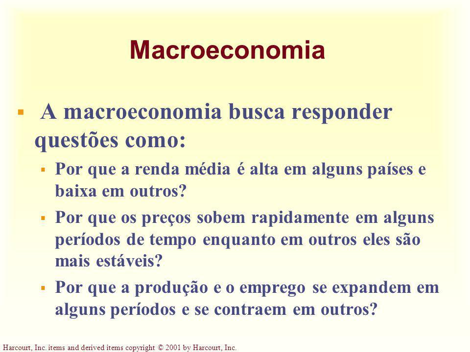 Macroeconomia A macroeconomia busca responder questões como: