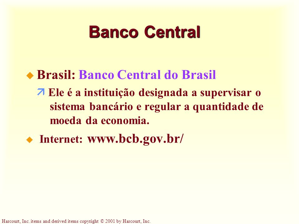 Banco Central Brasil: Banco Central do Brasil