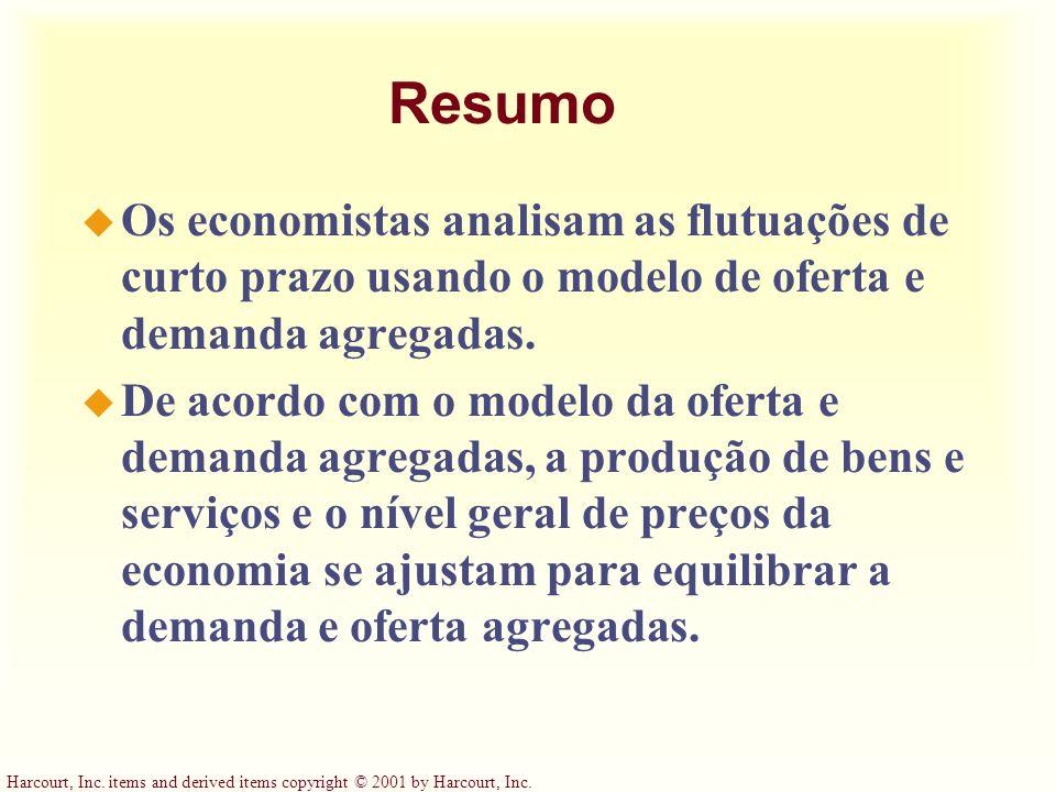Resumo Os economistas analisam as flutuações de curto prazo usando o modelo de oferta e demanda agregadas.