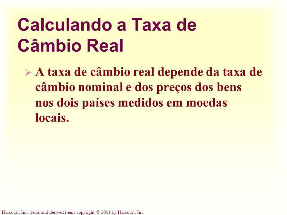 Calculando a Taxa de Câmbio Real