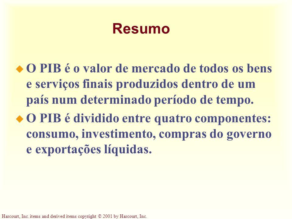 Resumo O PIB é o valor de mercado de todos os bens e serviços finais produzidos dentro de um país num determinado período de tempo.