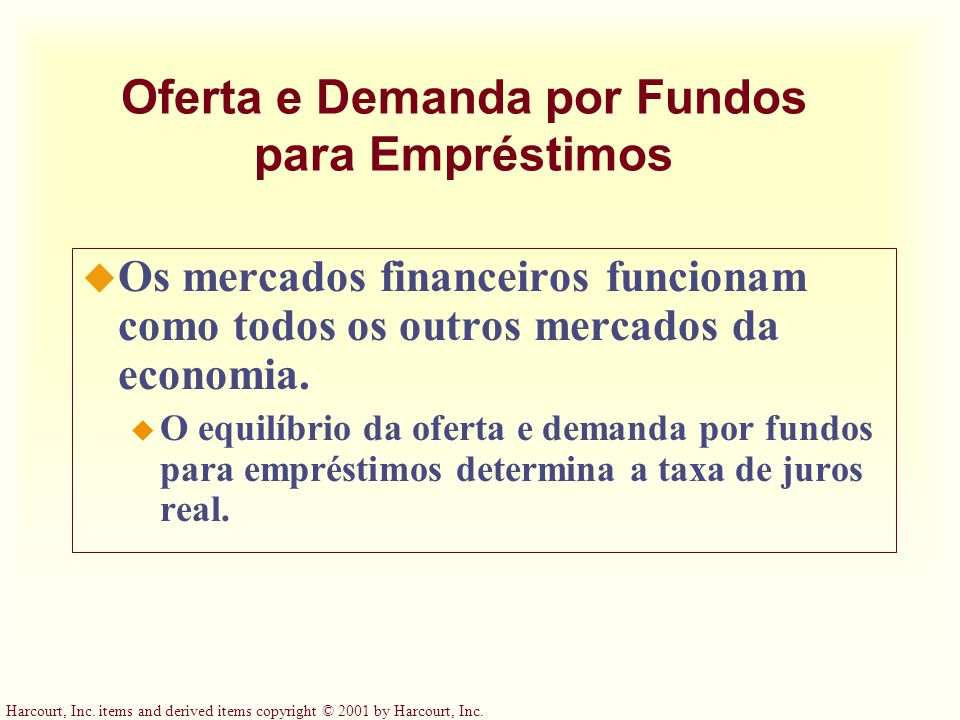 Oferta e Demanda por Fundos para Empréstimos