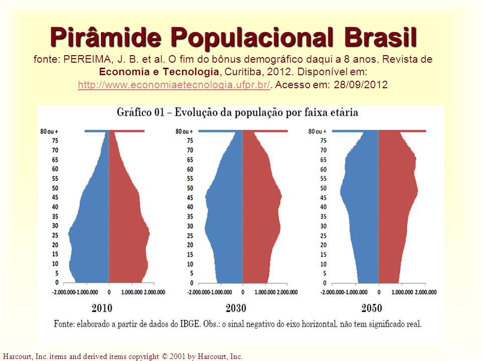 Pirâmide Populacional Brasil fonte: PEREIMA, J. B. et al