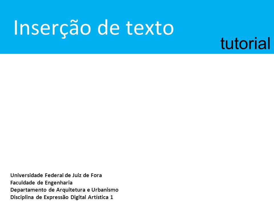 Inserção de texto tutorial