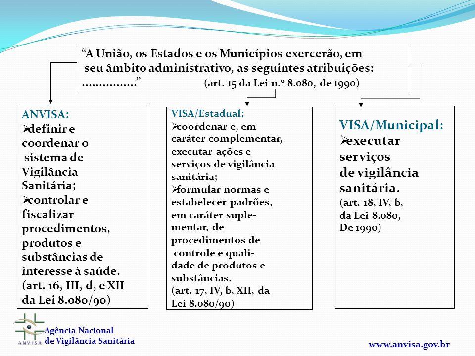 VISA/Municipal: executar serviços de vigilância sanitária.