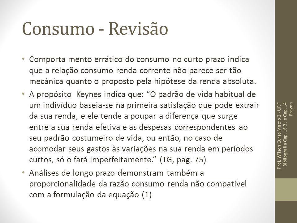 Consumo - Revisão