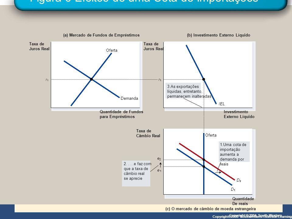 Figura 6 Efeitos de uma Cota de Importações