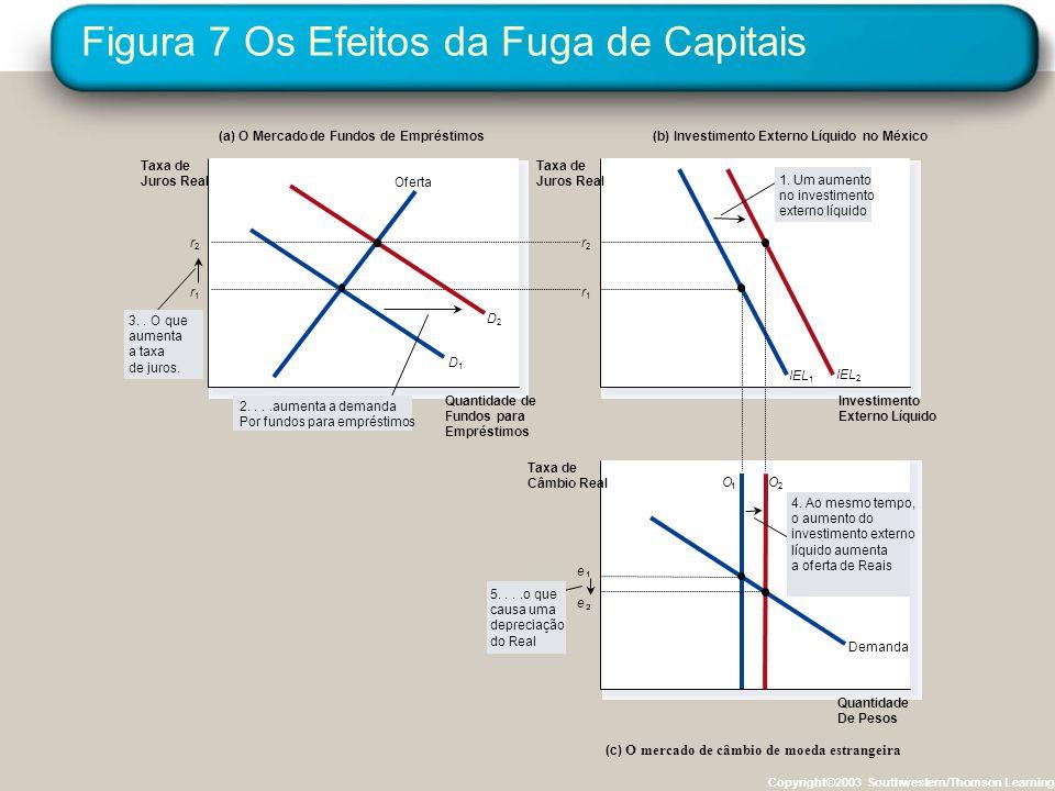 Figura 7 Os Efeitos da Fuga de Capitais