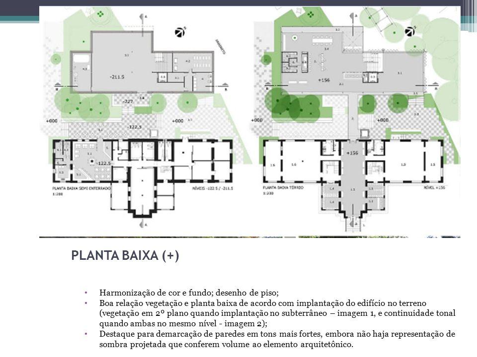 7 PLANTA BAIXA (+) Harmonização de cor e fundo; desenho de piso;