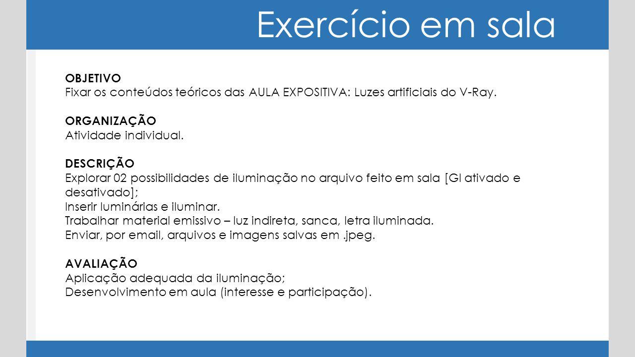 Exercício em sala OBJETIVO