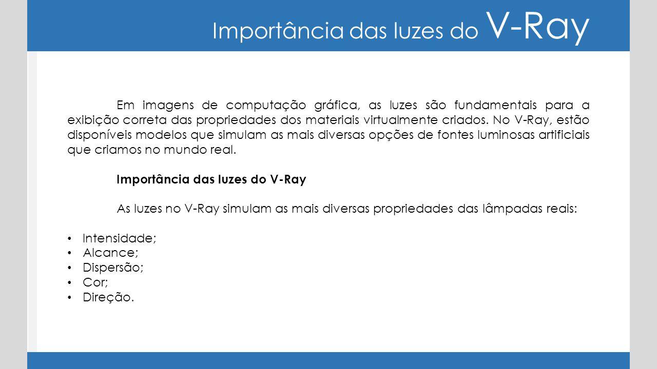 Importância das luzes do V-Ray