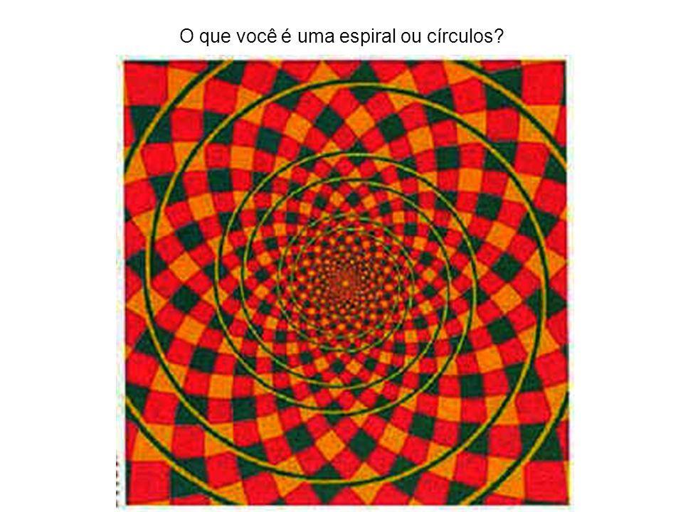 O que você é uma espiral ou círculos