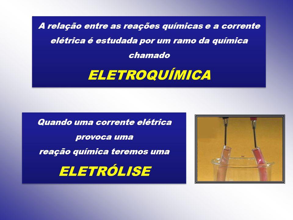 ELETROQUÍMICA ELETRÓLISE