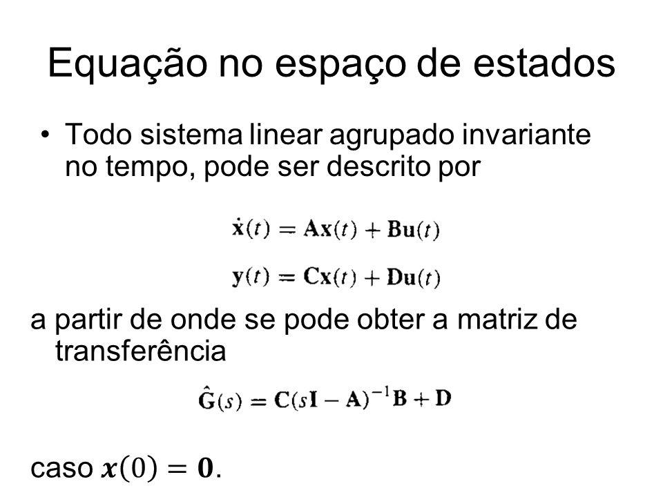Equação no espaço de estados
