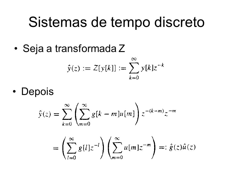 Sistemas de tempo discreto