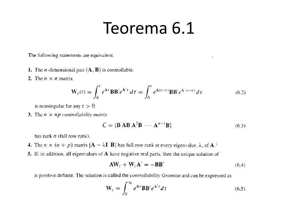 Teorema 6.1