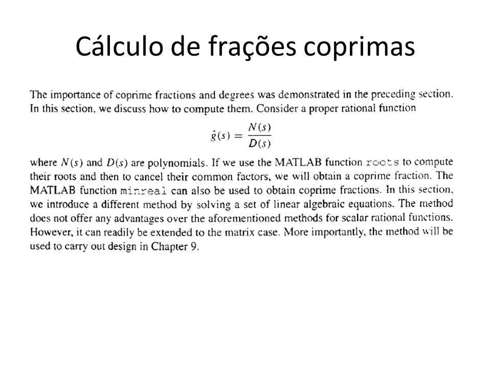 Cálculo de frações coprimas