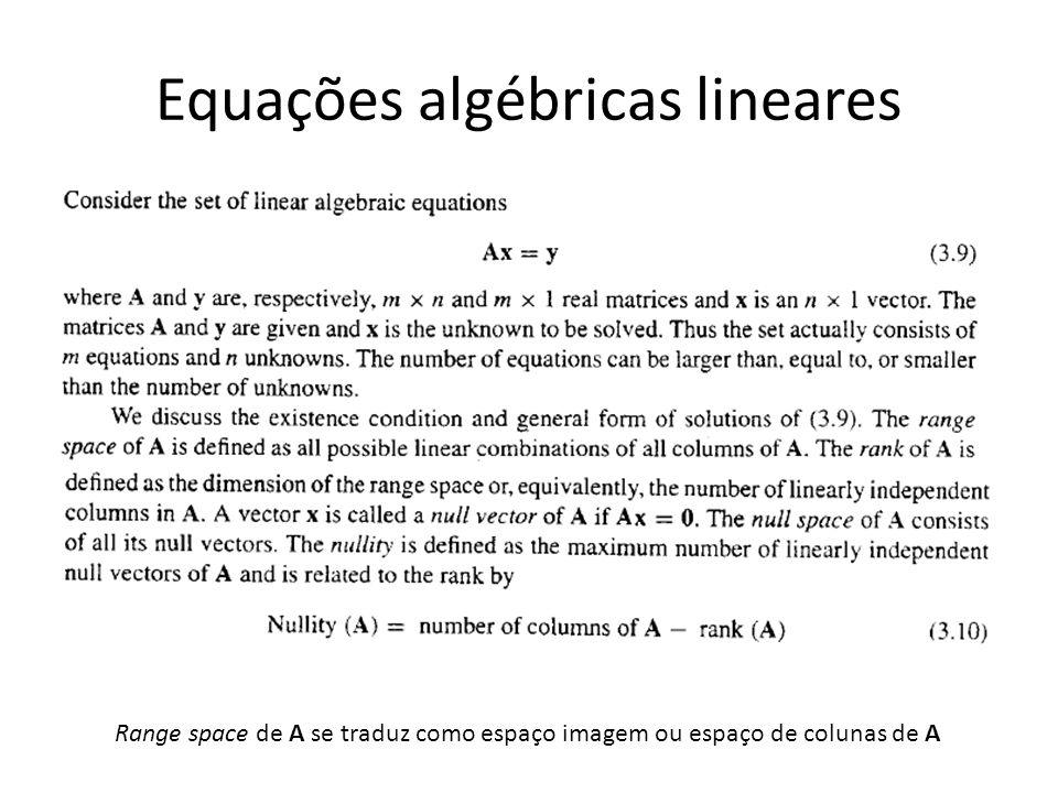 Equações algébricas lineares